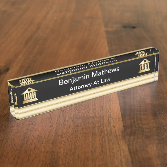Classy Attorney Executive Desk Name Plates Zazzle Com