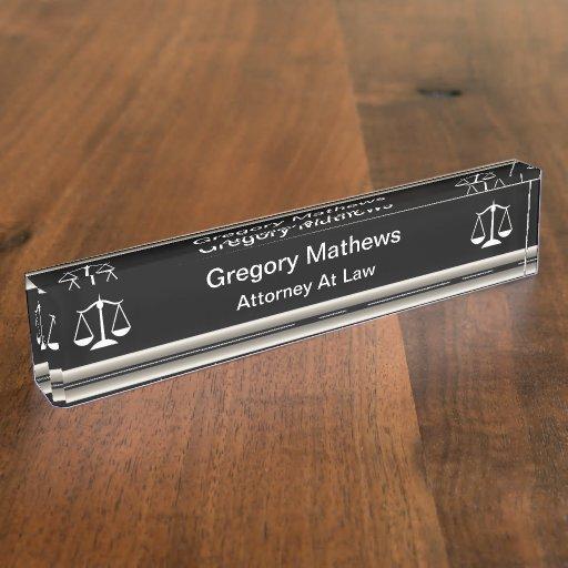 Classy Attorney Executive Desk Name Plates