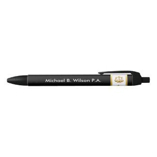 Classy Attorney Promotional Black Ink Pen