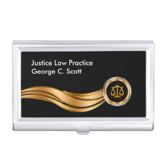 Classy Attorney Theme Business Card Holder