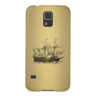 Classy attractive Golden look Ancient ship Galaxy S5 Case