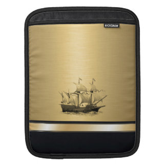 Classy attractive Golden look Ancient ship Sleeve For iPads