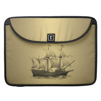 Classy attractive Golden look Ancient ship Sleeve For MacBooks