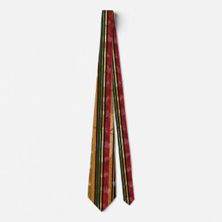 Classy Autumn Leaf and Pattern Design Tie