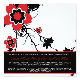 Classy B&W Cherry Blossom Wedding Invite