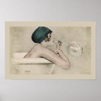 Classy Bathroom Wall Art Poster