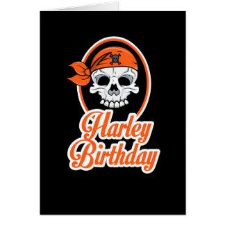 Classy Biker Skeleton Head Birthday Card