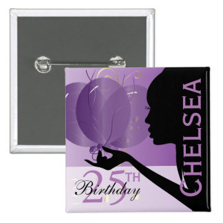 Classy Birthday Girl Pinback Button