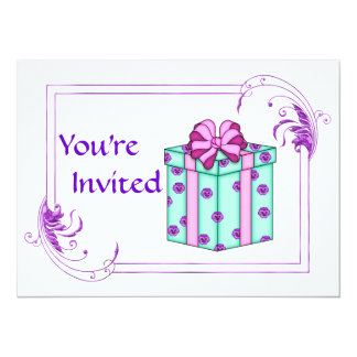 Classy Birthday Party for any age 5.5x7.5 Paper Invitation Card
