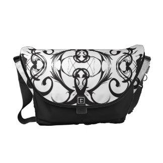 Classy Black and White Messenger Bag