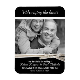 Classy Black and White Photo Save the Date Magnet