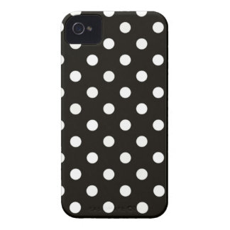 Classy Black and White Polka Dot Pattern Design iPhone 4 Case