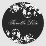 Classy Black and White Wedding Stickers