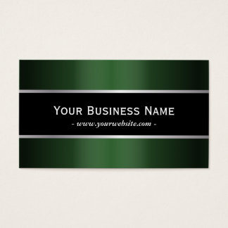 Classy Black Belt Green Metallic Business Card