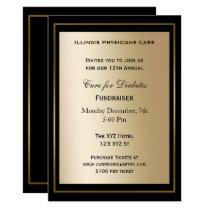 classy Black Gold Corporate party Invitation