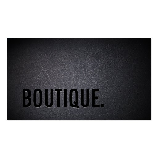 Classy Black Out Boutique Business Card