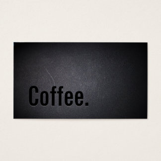 Classy Black Out Coffee Business Card