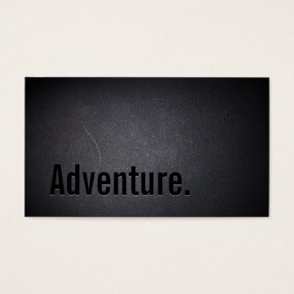 Classy Black Out Travel Adventure Business Card