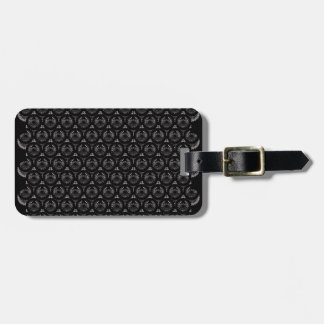 Classy black texture tags for luggage