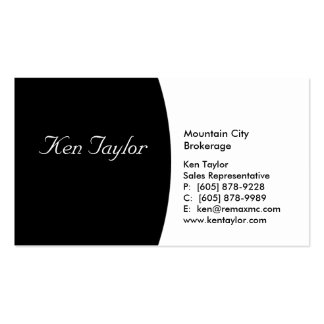 Classy Black & White Business Card Round