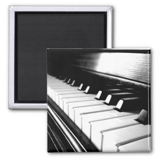 Classy Black & White Piano Photography Magnet