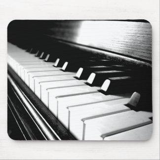 Classy Black & White Piano Photography Mousepad