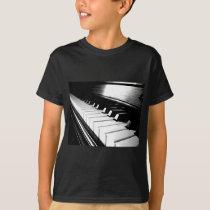 Classy Black & White Piano Photography T-Shirt
