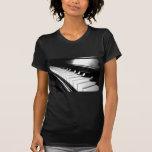 Classy Black & White Piano Photography Tee Shirts