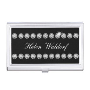 Bling business card holders cases zazzle classy bling business card case colourmoves Image collections