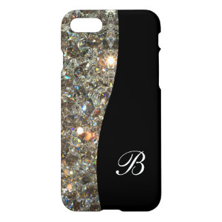 Classy Bling Monogram Design iPhone 7 Case