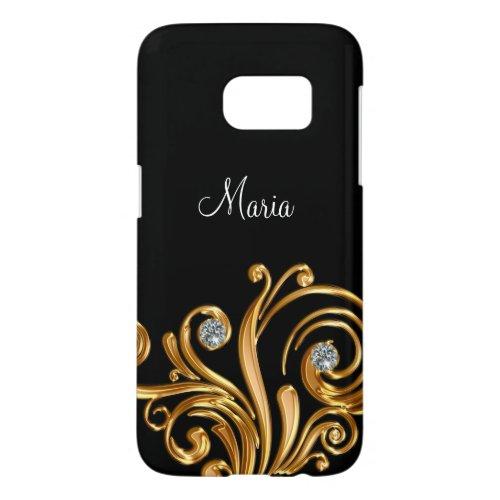 Classy Bling Monogram Galaxy S7 Case Phone Case