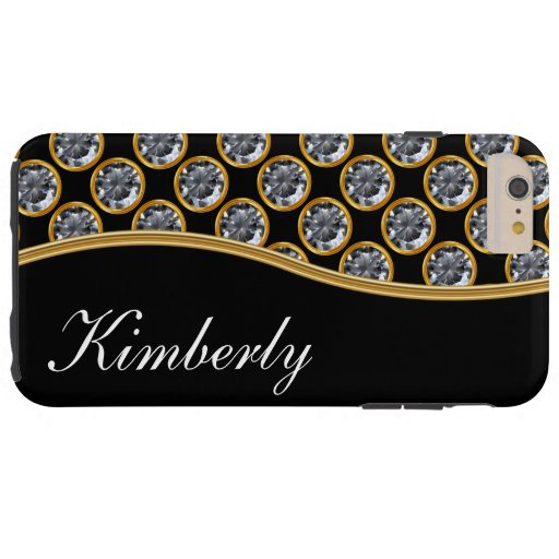 Classy Bling Monogram Style Tough iPhone 6 Plus Case