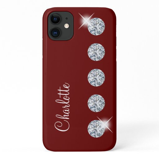 Classy Bling Monogram Style iPhone 11 Case