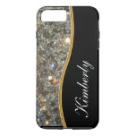 Classy Bling Monogram Style Iphone 7 Plus Case at Zazzle