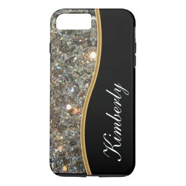 idesigncafe Classy Bling Monogram Style iPhone 8 Plus/7 Plus Case
