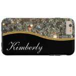 Classy Bling Monogram Style Tough Iphone 6 Plus Case at Zazzle