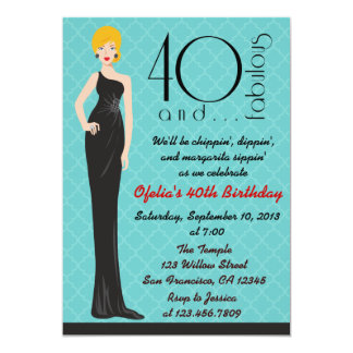 Classy Blond 40th Birthday Party Invitation