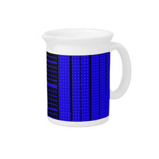 Classy Blue Flowing Banner Drink Pitcher
