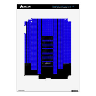 Classy Blue Flowing Banner iPad 3 Decal