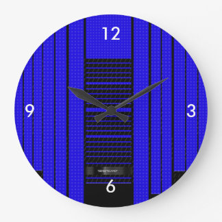 Classy Blue Flowing Banner Large Clock