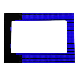 Classy Blue Flowing Banner Magnetic Picture Frame
