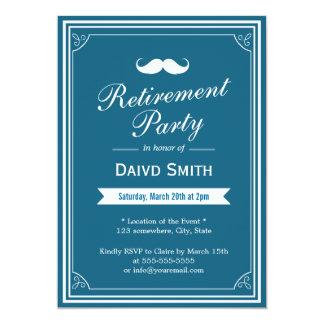 "Classy Blue Green Retirement Party Invitations 5"" X 7"" Invitation Card"