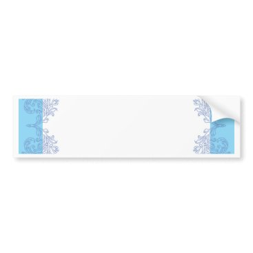 Beach Themed Classy blue invitation template bumper sticker