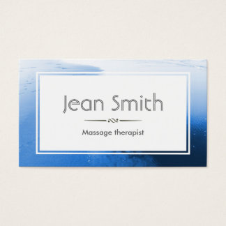 Classy Blue Massage Therapist Business Card