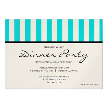 Professional Business Classy Blue Striped Party Invitation