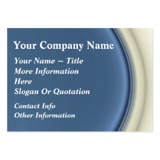 Classy Blue & White Curvy Large Business Cards