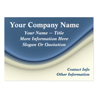 Classy Blue & White Wave Large Business Cards