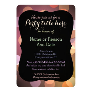 Classy Bokeh lights texture any purpose party Card