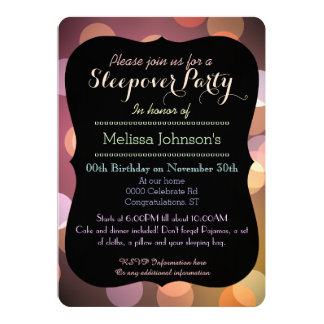 Classy Bokeh lights texture Graduation party Card