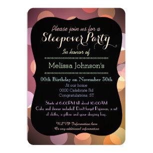 Classy Bokeh lights texture Graduation party Invitation